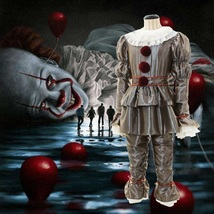 Adult & Kids Stephen King's It Cosplay Costume Pennywise Halloween Clown... - $64.95+
