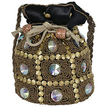 Indian Rajasthani Potli Wedding Pouch With Hand Work Code 11 - $12.89