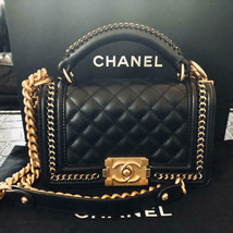 Boy Chanel Mini Handle Hand Bag Pochette Gold Chain Shoulder Auth New Un... - $8,133.75