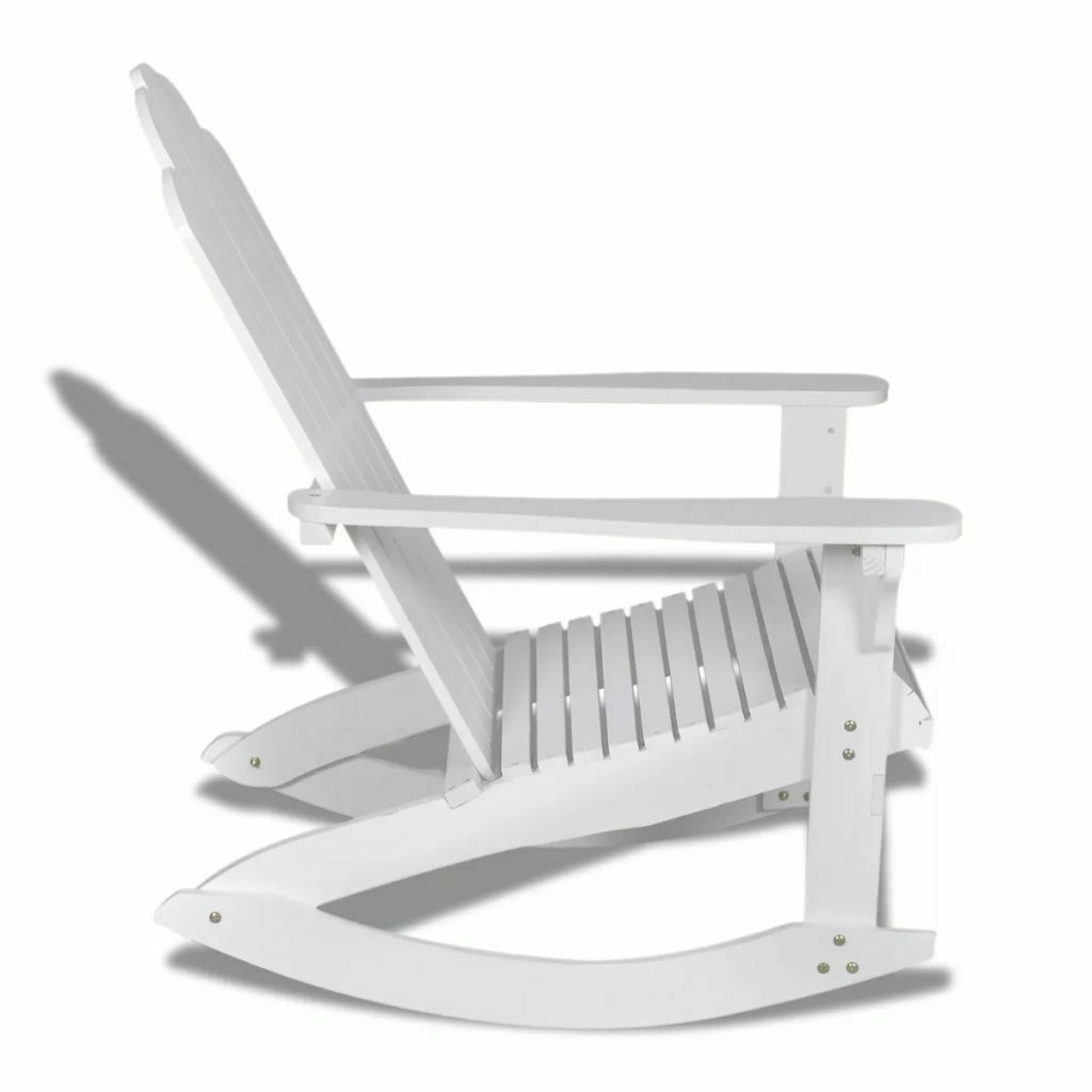 vidaXL Garden Rocking Chair Wood White Rocking Chair Hardwood Firwood Seat image 3