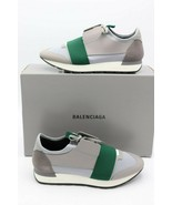 NIB BALENCIAGA Mens Gray Green Race Runners Sneakers Shoes 8 41 $695 New - $395.00