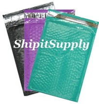 3-600 #000 4x8 ( Black Purple & Teal ) Color Poly Bubble Mailers Fast Sh... - $3.49+