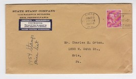 STATE STAMP COMPANY ERIE PA JUNE 23 1954 - $1.98