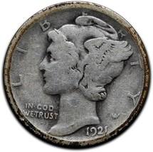 1921D Silver Mercury Dime 10¢ Coin Lot# A 556