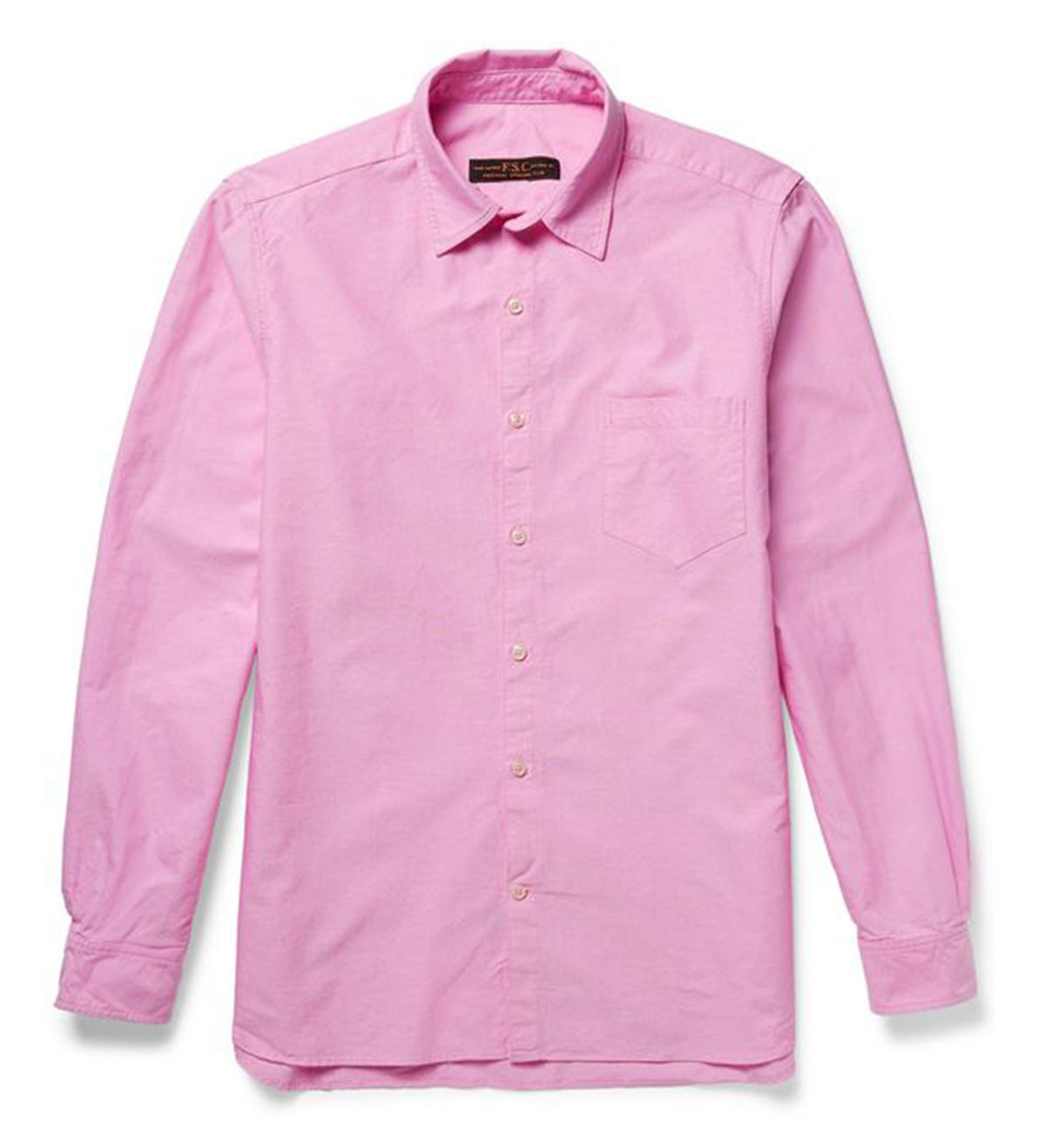 Primary image for NEW FREEMANS SPORTING CLUB FSC USA LONG SLEEVE PINK COTTON TWILL SHIRT M $210
