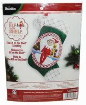 "Bucilla 18"" ELF on the SHELF Christmas Stocking Felt Applique Kit NEW NIP - $28.59"