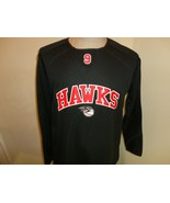 Black Sewn Hawks #9 Baseball Polyester Thermal Jersey Shirt Adult S Excellent - $29.69