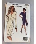 1992 Vogue Sewing Pattern 8530 SZ 6-8-10 Dress Uncut - $5.89
