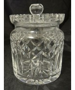 Waterford Crystal Biscuit Barrel With Lid - Lismore Pattern - $71.24