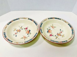 "Noritake Vintage 1970's China Song 8165 W83 Set Of 3 Soup Bowls 7 1/2"" - $25.20"