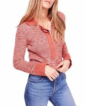 Free People Womens Making Memories Henley Sweater X-Small Terracotta - $296.00