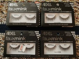 Ardell Faux Mink # 812 & 814 Black Lashes Luxuriously Lightweight InvisiBand  - $12.34