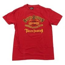 Harley Davidson Timeless Tradition Camicia Adulto Rosso Medio Maglietta ... - $24.91