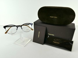 Tom Ford TF 5382 (090) Shiny Navy TITANIUM 50 x 19 145 mm Eyeglass Frames - $120.24