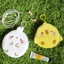 Molang Tiny Mini Pouch Keyring for Card USB Earphone Accessories Coin Ma... - $16.99