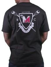 Motivation Ann Arbor Herren Schwarz University Rudern Club T-Shirt USA Made Nwt