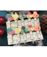 Wooden Clip,Clothespin with Hemp Rope,children's Birthday Party Favor De... - $3.20+