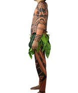 Halloween Adult Disney Moana Maui Tattoo Costume Set T-shirt Pants - $67.90