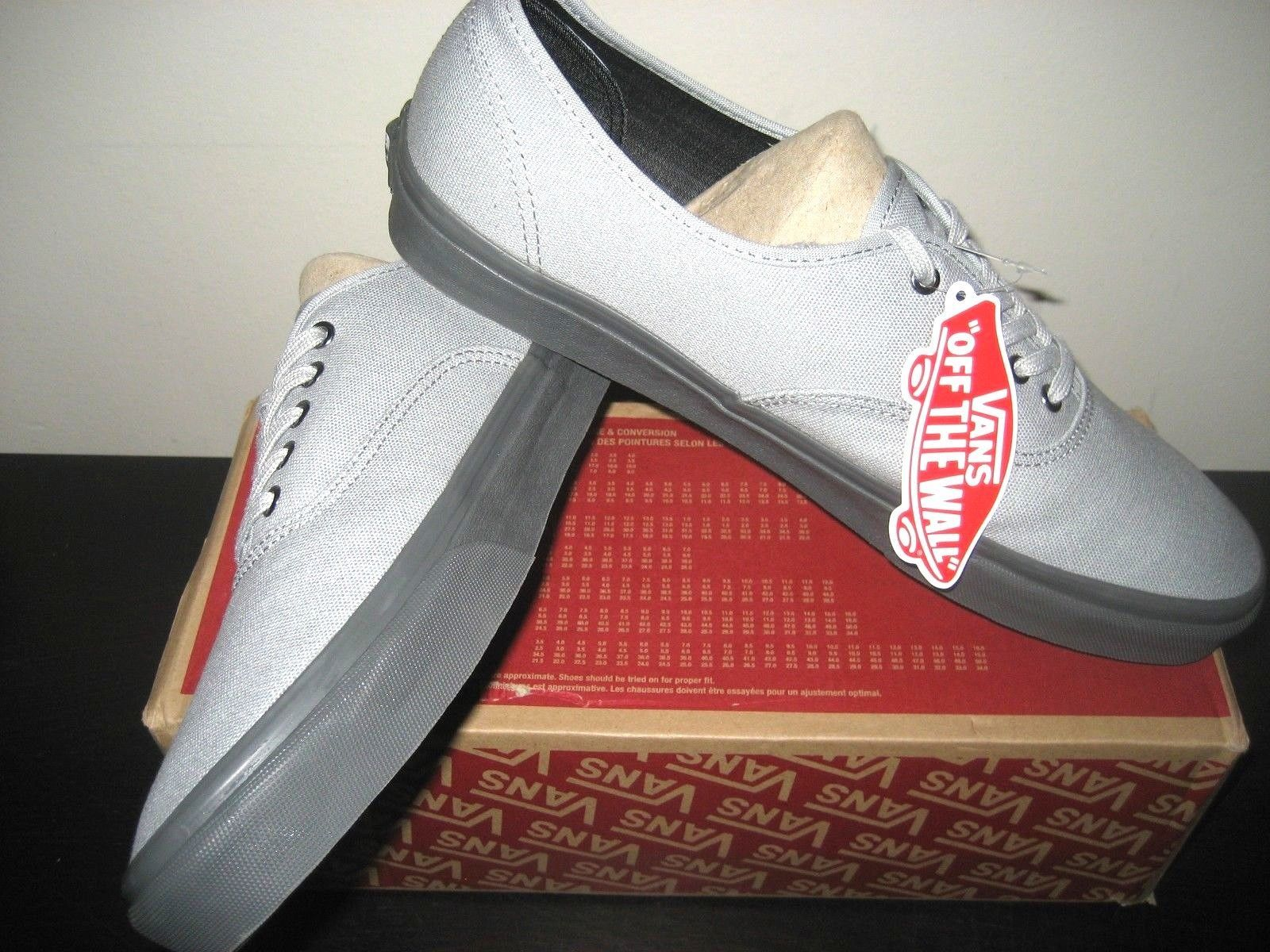 e8dbe3b4866efb Vans Mens Authentic C D High Rise Pewter Grey Canvas Skate Boat shoes Size  13