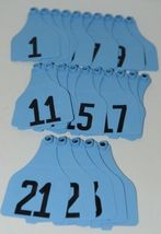 Destron Fearing Extra Large Panel Ear Tags for Livestock Blue 1-25 25 Sets image 4