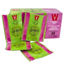 Wissotzky Green Tea Wild Raspberry Herbal Helth Tea 25 pcs Tea Bags - $14.85