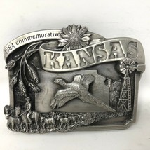 VTG Siskiyou Kansas Commemorative 1984 Cattle Drive Soaring Bird Belt Bu... - $49.49
