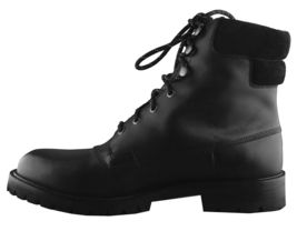 Hunter Mens Ross Black Genuine Leather Combat Ankle Lace Up Work Hiking Boots NW image 4