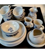 Pfaltzgraff Blue Yorktowne Plate Bowl Cup REPLACEMENT Pieces SOLD INDIVI... - $4.94+
