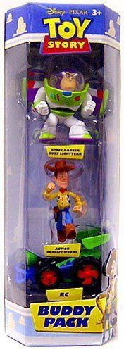 TOY STORY SPACE BUZZ LIGHTYEAR ACTION, SHERIFF WOODY, RC 3 PACK