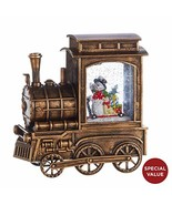 Raz 4018803 Snowman in Musical Lighted Water Train, 6.75 Inches, Multicolor - $39.99