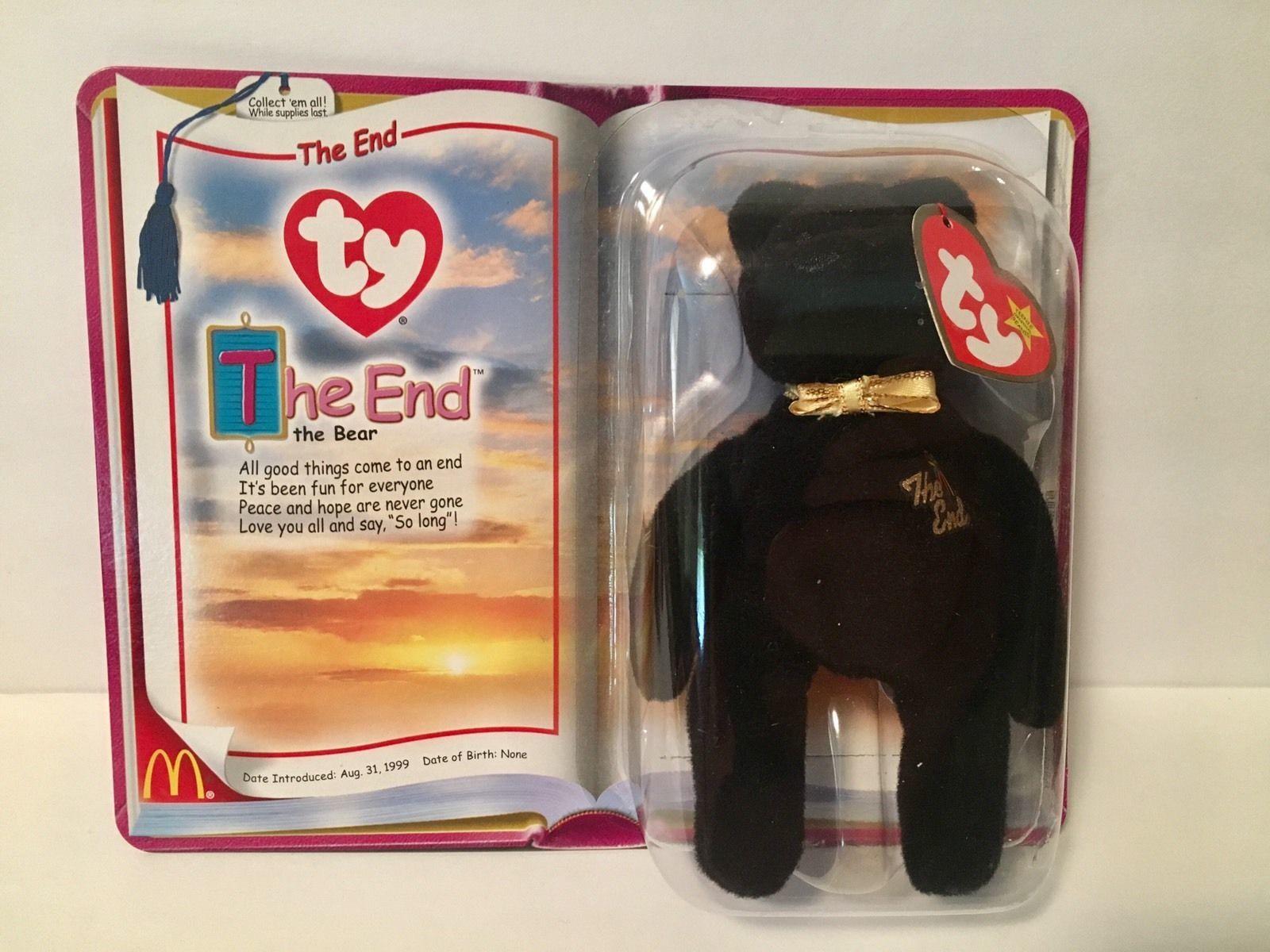 Beanie Babies Ty Plush Millennium The End Set McDonalds Teenie Beanies