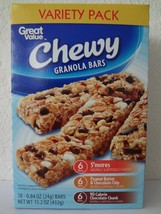 Great Value Chewy Granola Bars Variety Pack,18 ct- 0.84 oz (24 g) - $60.00