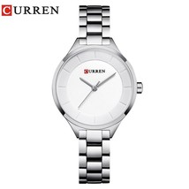 Ladies Watch Fashion Brand CURREN Female Clock Quartz Wrist Watch Full Steel Dre - $35.20
