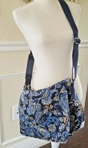 Vera Bradley Messenger Cross Body Bag Tote Windsor Navy Retired Large Ba... - £27.32 GBP