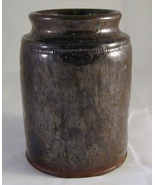 Antique Manganese and Lead Glazed Pennsylvania Redware Preserve Jar - $180.00