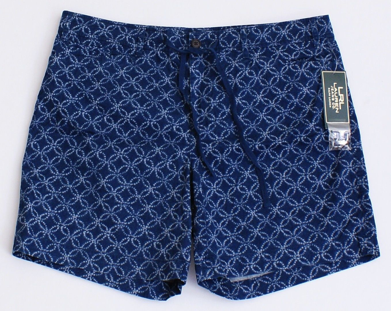 Primary image for Lauren Jeans Co. Ralph Lauren Blue Pattern Casual Shorts Women's NWT