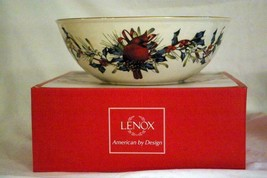 "Lenox 2019 Winter Greetings Large Serving Bowl 10 3/4"" Red Cardinal NIB - $44.99"