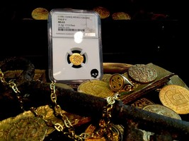 "Mexico 1 Escudo 1705-13 ""1715 Plate Fleet Shipwreck"" Ngc 63 Gold Doubloon - $3,995.00"
