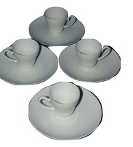 4 Rosenthal ROMANCE Demitasse Cup Saucer All White 15080 - $178.19
