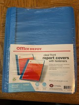 Office Depot Clear Front Report Covers With Fasteners 10 Count - $8.79