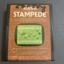ATARI 2600 Stampede tested Activision video game cartridge cattle lasso rope - $1.99