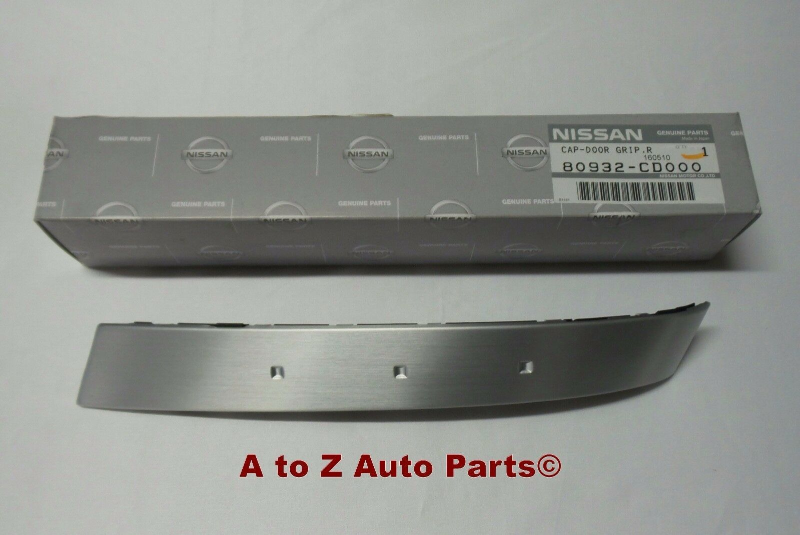 NEW 2003-2005 Nissan 350Z PASSENGER Side SILVER Door Pull Handle Insert, OEM! - $104.95