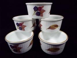 Royal Worcester Evesham Gold Fine Porcelain 7 - 3 3/8 Inch Ramekin Dishes - $69.99
