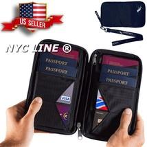 Document Organizer Case Travel Wallet & Family Passport Holder w/ RFID B... - £11.04 GBP