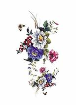 1 Set Of Nice Muti Flowers Pattern Tattoo Stickers Waterproof
