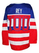 Any Name Number New York Americans Retro Hockey Jersey New Sewn Rey Any Size image 5