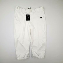 Nike Dri-Fit Girl's Softball Pant Size XL White Knee Length QQ16 - $19.79