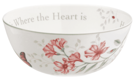 Lenox Butterfly Meadow Serving Salad Bowl Home is Where The Heart Is NEW image 3