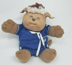 Vintage 1983 Cabbage Patch Kids Koosas Doll Stuffed Animal Plush Toy Blue Outfit - $34.64