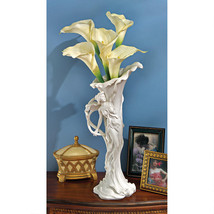 "15"" Art Nouveau Bonded Marble Sensuous Woman Calla Lilly Gallery Quality... - $136.70 CAD"